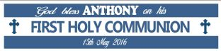 Personalised Boy First Communion Banner Design 1